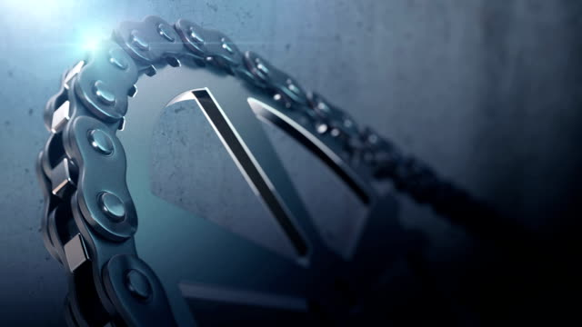 chain and gears 3d rendering animation loop-able - chain stock videos & royalty-free footage