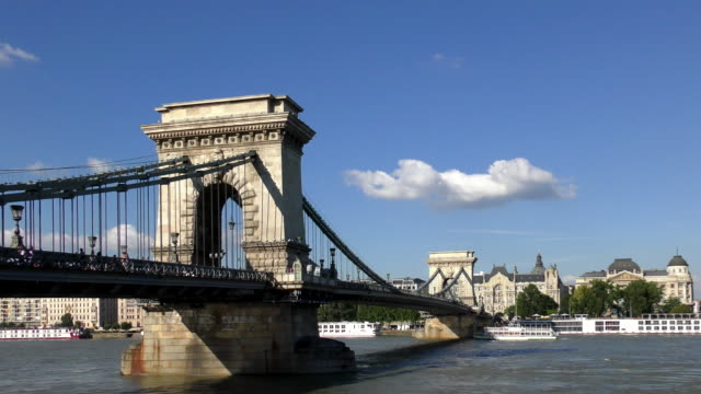 chain bridge - budapest, hungary - traditionally hungarian stock videos & royalty-free footage