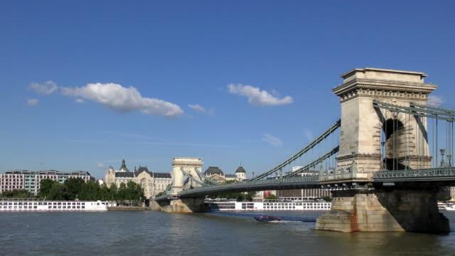 鎖橋のブダペスト,ハンガリー - 鎖橋点の映像素材/bロール