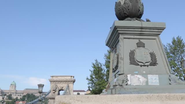 Chain Bridge, Szechenyi Lamchid, River Danube, Budapest, Hungary, Europe