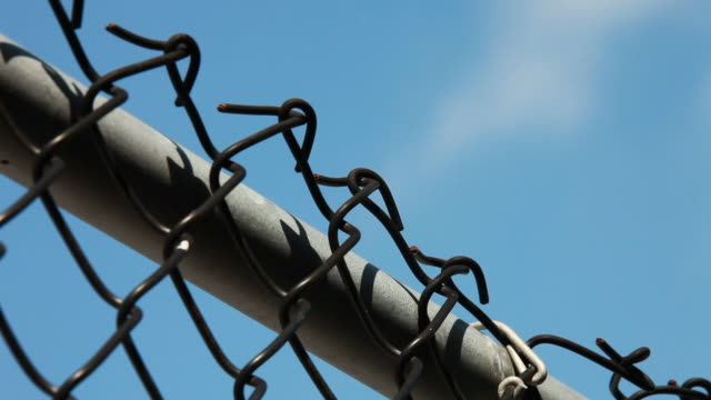 chain link fence - fence stock videos & royalty-free footage
