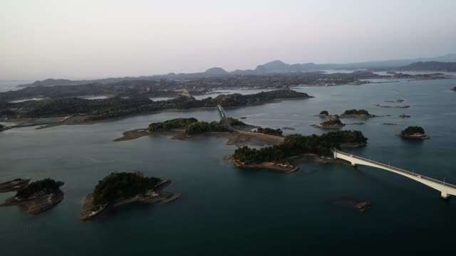 chain of off shore islands, kumamoto prefecture, japan, asia - island stock videos & royalty-free footage