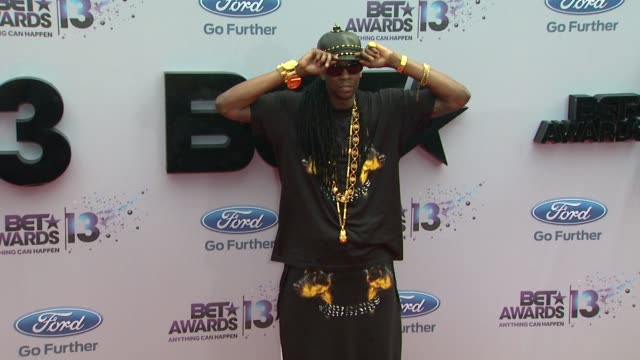 2 chainz at bet 2013 awards arrivals on 6/30/13 in los angeles ca - black entertainment television stock videos & royalty-free footage