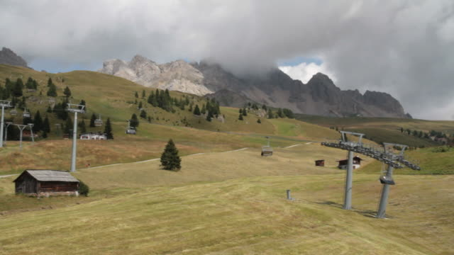 Chair lift in San Pellegrino Pass (Costabella)