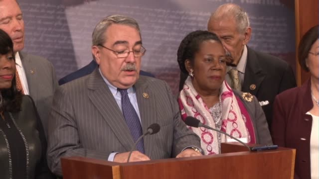 chair of the congressional black caucus gk butterfield of north carolina says that there is no issue more important for the caucus that installing a... - ordförande bildbanksvideor och videomaterial från bakom kulisserna