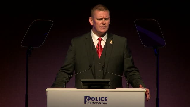 Chair of the Police Federation of England and Wales Calum MacLeod criticising former Home Secretary Theresa May for dismissing concerns over police...