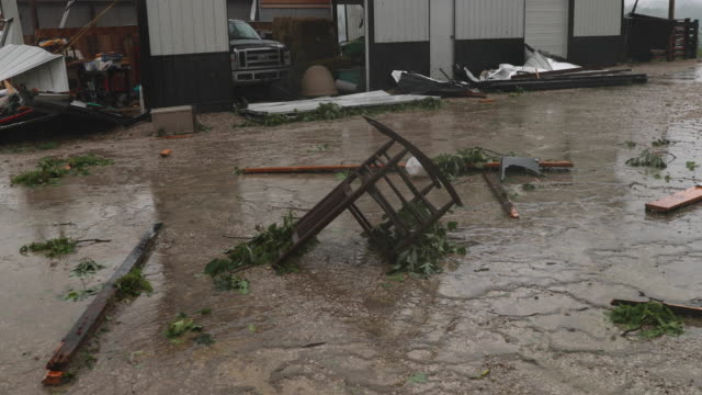 chair strewn in yard on mt. tabor rd. after an ef-1 tornado with 130 mph winds made an 8.22 mile path saturday, june 15, 2019 near ellettsville, ind.... - 2019 stock videos & royalty-free footage