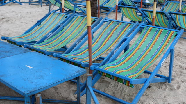 chair the  beach close_part 1 - tourist resort stock videos & royalty-free footage