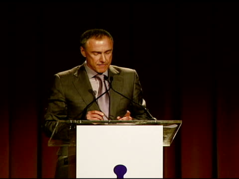 vídeos de stock e filmes b-roll de chairman and ceo harry e sloan on growing a community along with a business, and on latm at the los angeles team mentoring 9th annual summer soiree... - presidente de empresa