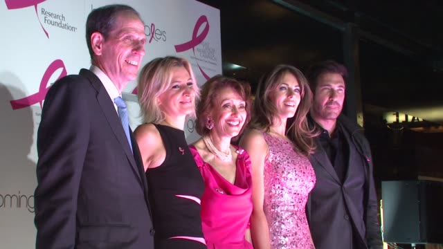 Chairman and CEO of Bloomingdales Michael Gould Marisa Acocella Marchetto Evelyn Lauder Elizabeth Hurley and Dylan McDermott at the 10th Anniversary...