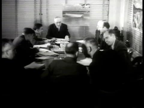 chairman arthur morgan in board meeting cu morgan - 1936 stock videos and b-roll footage
