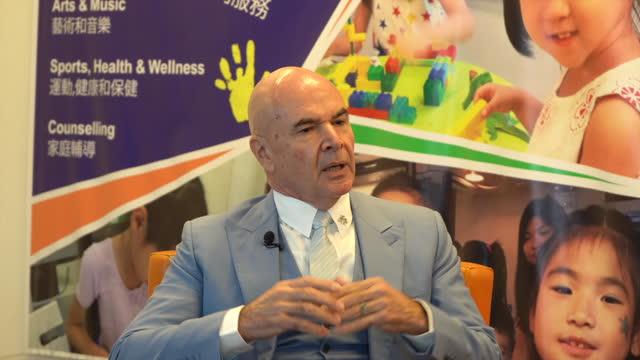 chairman of boehm capital & miskawaan health, david boehm, talks about the hub in hong kong. - internet of things stock videos & royalty-free footage