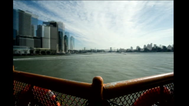 stockvideo's en b-roll-footage met chairman of federal reserve calls bear stearns america's northern rock int ferry across river into city ext time lapse speeded up seq people to and... - 2008