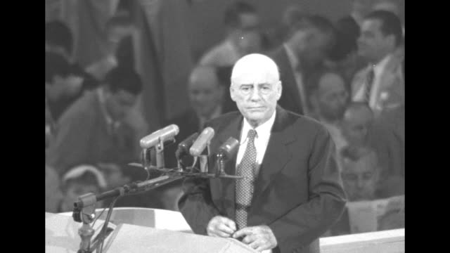 chairman of the democratic national convention sam rayburn speaker of the house of representatives standing at rostrum speaking / vice president... - sam rayburn video stock e b–roll