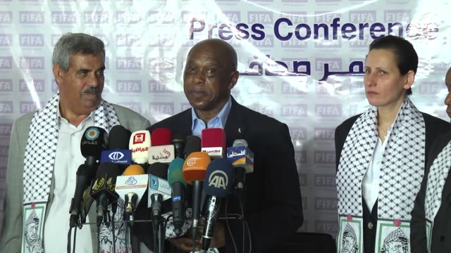 chairman of the fifa monitoring committee israelpalestine tokyo sexwale accompanied by a high level delegation from fifa visits palestinian football... - football association stock videos & royalty-free footage