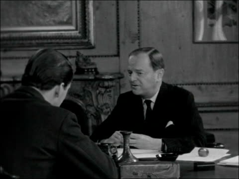 ita chairman sir kenneth clark retirement interview england london independent television authority princes gate int sir kenneth clark interview sot... - voce video stock e b–roll