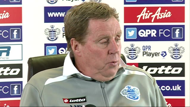 qpr chairman tony fernandes threatens to quit club england middlesex harlington sports centre int harry redknapp press conference sot on how he... - トニー・フェルナンデス点の映像素材/bロール
