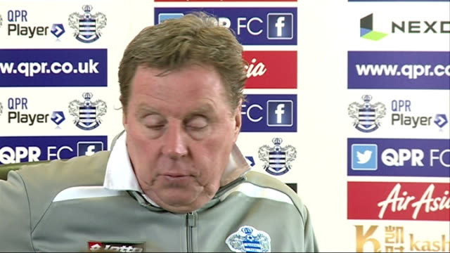 qpr chairman tony fernandes threatens to quit club middlesex harlington sports centre int redknapp press conference sot will be looking to make some... - トニー・フェルナンデス点の映像素材/bロール
