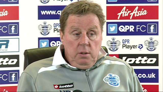 qpr chairman tony fernandes threatens to quit club middlesex harlington sports centre int redknapp press conference sot - トニー・フェルナンデス点の映像素材/bロール
