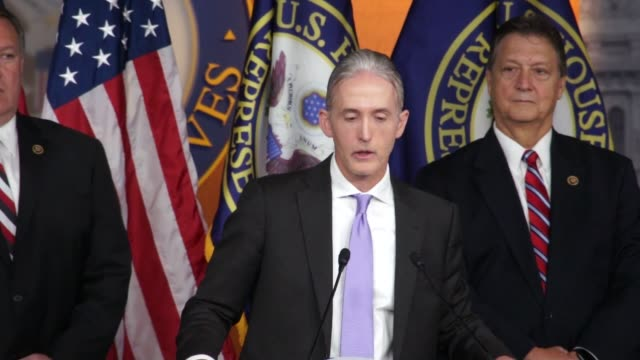 chairman trey gowdy of the house select committee on benghazi answers questions from reporters about the release of its final report. asked about the... - carter ham stock videos & royalty-free footage