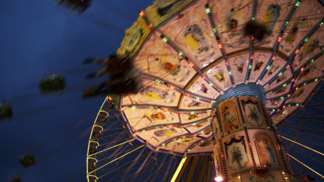 chairoplane - fairground stock videos and b-roll footage