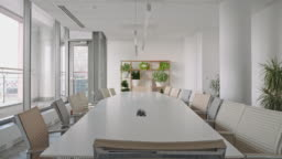 Chairs Surrounding Conference Table in Office Board Room