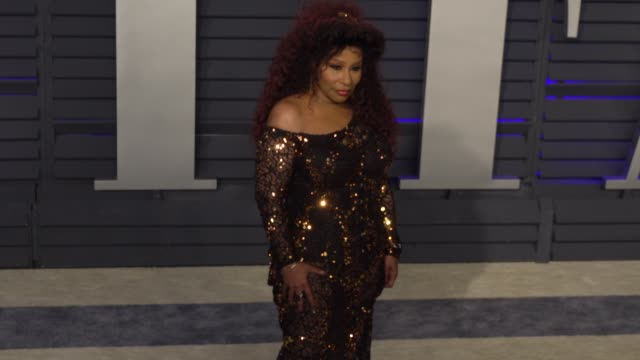 chaka khan at 2019 vanity fair oscar party hosted by radhika jones at wallis annenberg center for the performing arts on february 24, 2019 in beverly... - vanity fair oscar party stock videos & royalty-free footage