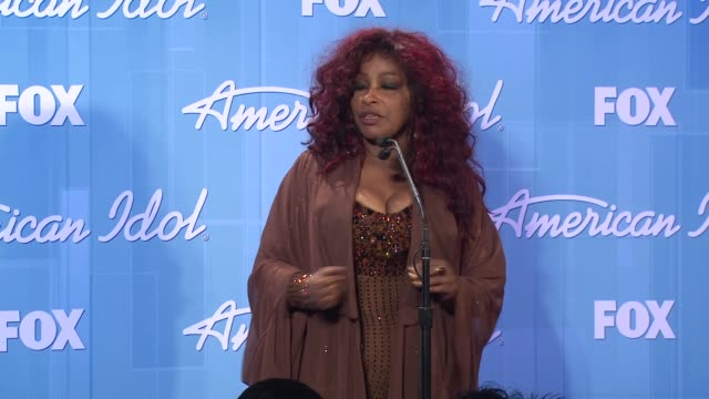 chaka khan at american idol season 11 grand finale show photo room on 5/23/12 in los angeles ca - american idol stock videos and b-roll footage