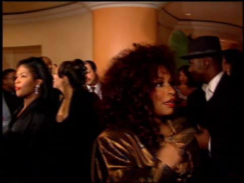 stockvideo's en b-roll-footage met chaka khan at the arista records grammy awards party at the beverly hilton in beverly hills california on february 27 1996 - 1996