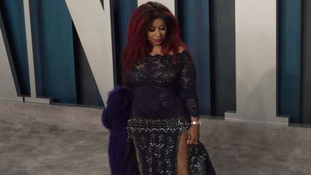 chaka khan at vanity fair oscar party at wallis annenberg center for the performing arts on february 09, 2020 in beverly hills, california. - vanity fair stock videos & royalty-free footage