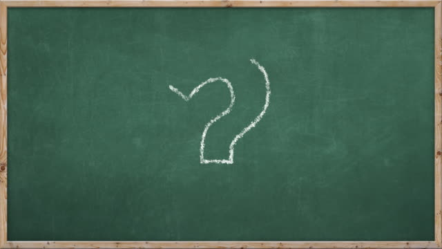 chalkboard writing - ? - question mark stock videos & royalty-free footage