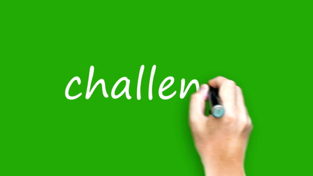 challenge  - writing with marker on green screen - pen stock videos & royalty-free footage