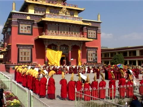 cham dance - traditionally tibetan stock videos & royalty-free footage