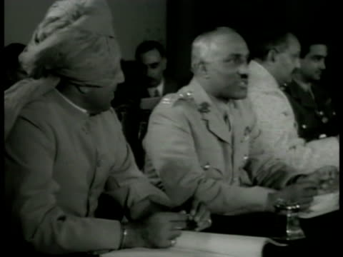 chamber of princes meeting w/ unidentified indian officials in meeting w/ british officials int bombay telephone exchange w/ operators working... - colonial stock videos & royalty-free footage