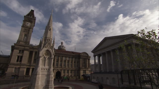 Chamberlain Memorial in Birmingham England. Available in HD.