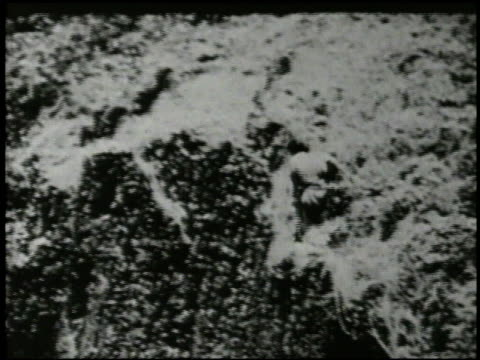 chamorro woman committing suicide off cliff native indigenous people casualties world war ii wwii pacific front mariana islands marpi point - selbstmord stock-videos und b-roll-filmmaterial