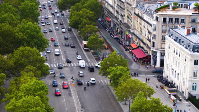champ elysees street in paris - place charles de gaulle paris stock videos & royalty-free footage
