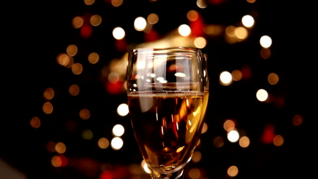 Champagne and Christmas light
