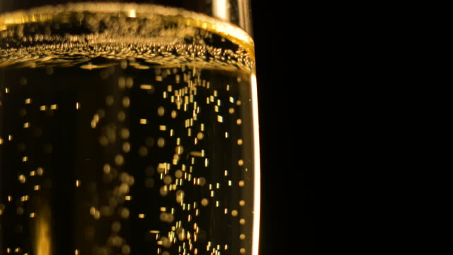 Champagne bubbles Close-up