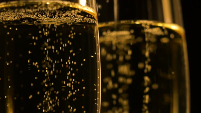 champagne flutes close-up - champagne stock videos & royalty-free footage