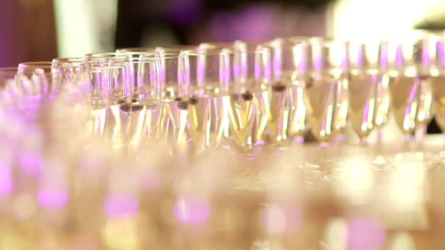 Champagne glases - Stock Footage