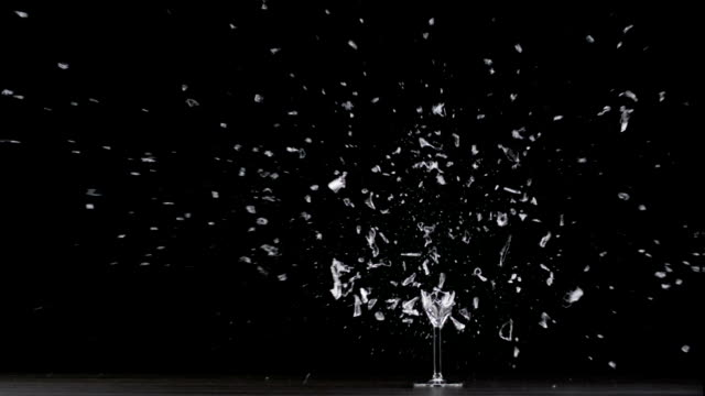 champagne glass explodes - glass material stock videos and b-roll footage