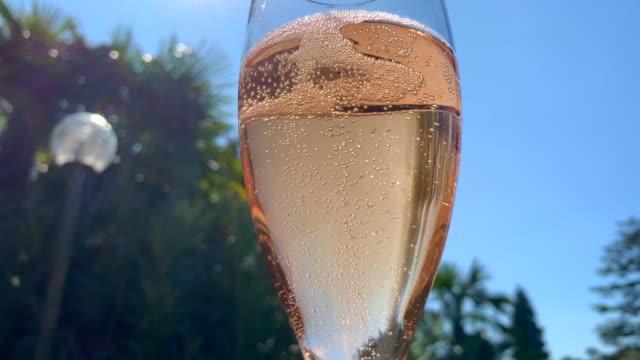 champagne glass - alkoholisches getränk stock-videos und b-roll-filmmaterial