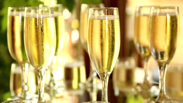 champagne glasses - champagne flute stock videos & royalty-free footage