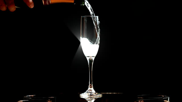 champagne toast - champagne flute stock videos and b-roll footage