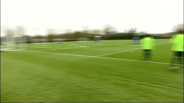 chelsea v manchester united chelsea training england surrey cobham ext chelsea footballers michael essian and daniel pappoe along for training /... - cobham surrey stock videos and b-roll footage