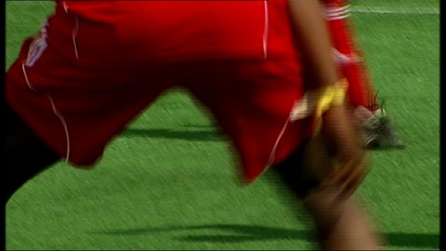 Bayern Munich beat Borussia Dortmund Stratford Legs of pllayers playing in UEFA tournament Winning penalty kick scored