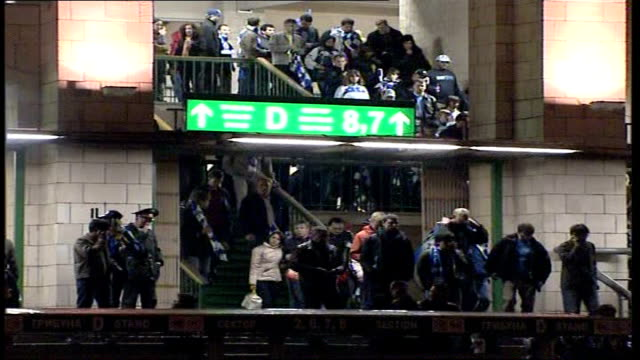 chelsea fans leave stadium russian federation moscow chelsea fans leaving the luzhniki stadium after losing to manchester united in the champions... - luzhniki stadium stock videos & royalty-free footage