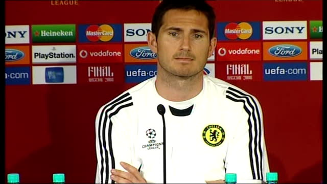Chelsea FC press conference Terry and Lampard press conference SOT They deserved to win the League we are fully fit and ready to left the trophy Body...