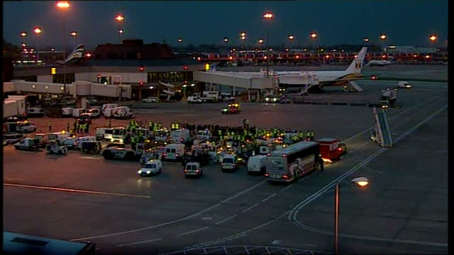 Manchester United arrive back from Moscow More general views of plane on tarmac